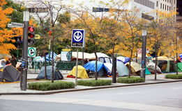 Occupy Movement in Montreal royalty free stock photos