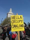 Occupy Oakland Protest. In Oakland Royalty Free Stock Photography