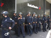 Occupy Oakland Protest. In Oakland Stock Image