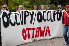 Occupy Ottawa Royalty Free Stock Photos