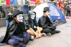 Occupy Protests Spread to Hong Kong Royalty Free Stock Image