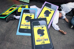Occupy Protests Spread to Hong Kong Stock Photos