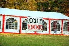 Occupy Toronto stock photos
