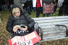 Occupy Toronto Stock Photography