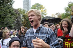 Occupy Toronto Royalty Free Stock Photo