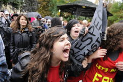 Occupy Toronto Royalty Free Stock Images