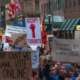 Occupy Toronto Stock Image