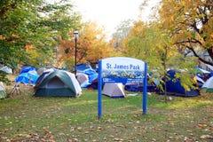 Occupy Toronto Camp royalty free stock photos