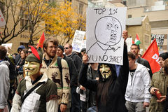 Occupy Toronto - Toronto version of Occupy Wall St Stock Images