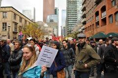 Occupy Toronto - Toronto version of Occupy Wall St Stock Photos