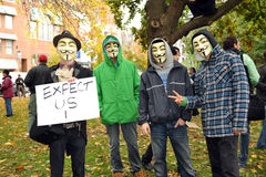 Occupy Toronto - Toronto version of Occupy Wall St Royalty Free Stock Images
