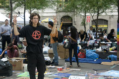 Occupy Wall St. Royalty Free Stock Image