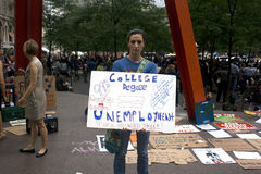 Occupy Wall St. Stock Images
