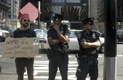 Occupy Wall St. stock photo