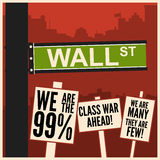 Occupy Wall Street royalty free stock photos