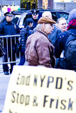 Occupy Wall Street 5, cops. Occupy Wall Street Protesters in New York fall of 2011 in Zuccotti Park. Cops are watching Royalty Free Stock Photos