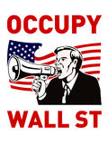 Occupy Wall Street American Worker Stock Images