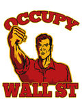 Occupy Wall Street American Worker Royalty Free Stock Photos