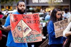 Occupy Wall Street Demonstrator Royalty Free Stock Photos