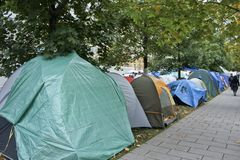 Occupy Wall Street in Montreal (Quebec Canada) Stock Photo