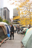 Occupy Wall Street in Montreal (Quebec Canada) Stock Photos