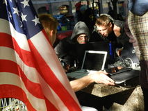 Occupy wall street, original command center Royalty Free Stock Image
