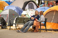Occupy Wall Street in Portland Royalty Free Stock Photos
