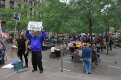 Occupy Wall Street protest Royalty Free Stock Photography