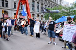Occupy Wall Street Protest. In Liberty Square park in lower Manhattan, New York City Stock Photos