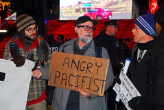 Occupy Wall Street protest in Times Square Royalty Free Stock Photo