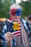 Occupy Wall Street Protester Royalty Free Stock Images