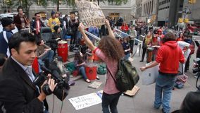 Occupy Wall Street Protesters in New York City stock footage