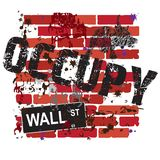 Occupy Wall Street Sign stock illustration