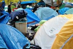 Occupy Wall Street Sleeper  Stock Photos