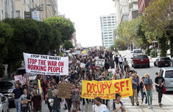 Occupy Wall Street West, San Francisco Stock Image