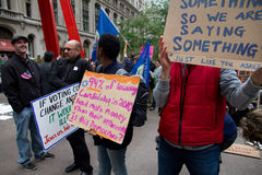 Occupy Wall Street at Zuccotti Park Stock Photography