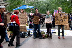 Occupy Wall Street at Zuccotti Park Royalty Free Stock Photography
