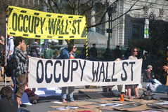 Occupy wallstreet. NEW YORK CITY, NEW YORK,march 20,2012,this is a photo of the occupy movement heading out to a march on march 20, of 2012 in NEW YORK CITY, NEW Royalty Free Stock Image