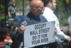 Occupy wallstreet Royalty Free Stock Image