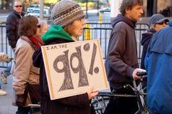 occupymn διαμαρτυρία Στοκ φωτογραφία με δικαίωμα ελεύθερης χρήσης