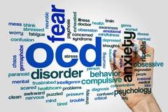 OCD słowa chmury pojęcie zdjęcie stock