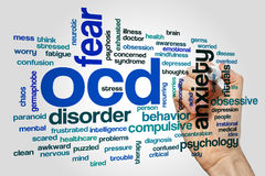 OCD word cloud concept Stock Photo