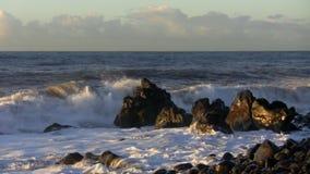 Oceaan bij dageraad stock videobeelden