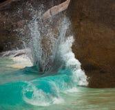 Oceaan branding. Stock Foto