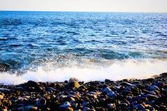 Oceaan dichtbij de Canarische Eilanden Stock Foto