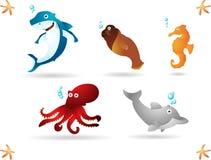 Oceaan dieren stock illustratie