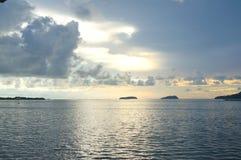 Oceaan en hemelmening Royalty-vrije Stock Foto