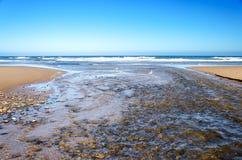 Oceaan en Rivier royalty-vrije stock fotografie
