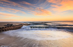 Oceaan en Strandlandschap Noord-Carolina stock foto's