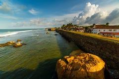 Oceaan in Galle, Sri Lanka Royalty-vrije Stock Afbeeldingen